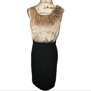 Eliza J Sheath Silk Dress Pencil Skirt